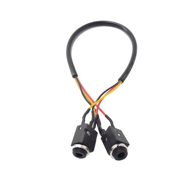 Kabel Audio 4Pin stóp Stereo gniazdo jack do słuchawek 3.5mm gniazdo z gwintowane podwójny kanał 3.5mm żeński do żeńskiego rozszerzenie audio kabel