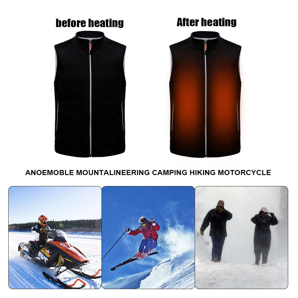 USB Electric Heated Vest Electric Clothing Charging Heating Vest Clothing Winter Skiing Hiking Motorcycle Travel Fishing Golf|Cycling Jackets| |  - title=