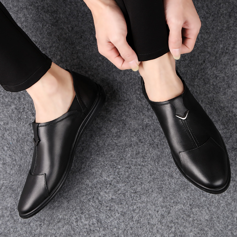 Fashion Shoes 2019 Casual Shoes Breathable Leather Loafers Office Shoes For Men Driving Moccasins Comfortable Slip On  %H1658