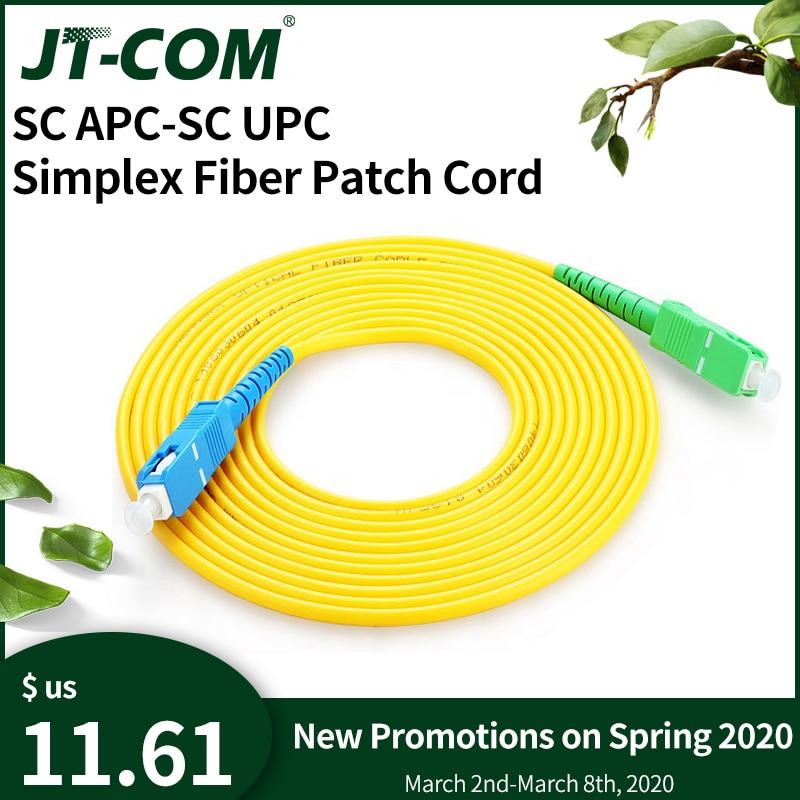 10 шт. SC/APC-SC/UPC Simplex 2,0 мм ПВХ волоконно-оптический соединительный кабель одномодовый удлинитель патч-корд 1 м, 3 м, 5 м, 10 м, 20 м, 30 м