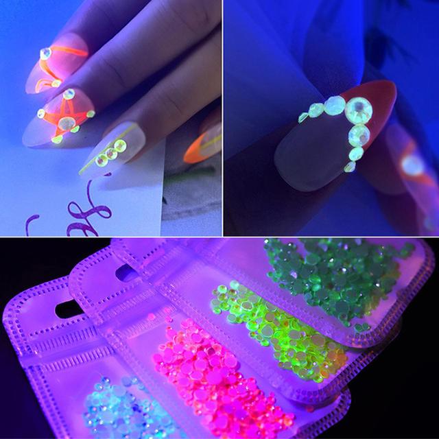 1 Bag Luminous Sparkling Rhinestone