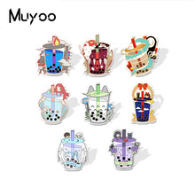 Lapel Pins Badge Epoxy Acrylic Handcraft The Milk-Bottle Anime-Characters New-Arrival