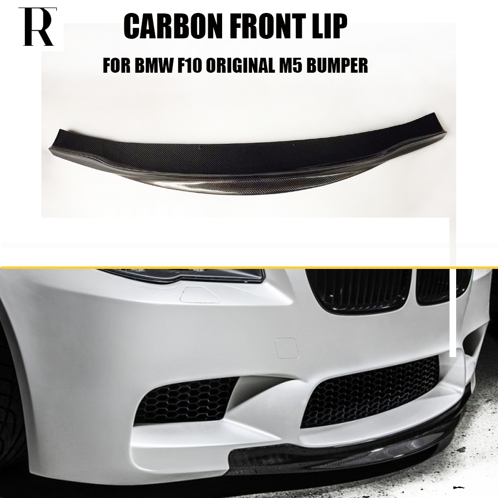 <font><b>F10</b></font> M5 RPK Style Carbon Fiber Front Lip Chin Spoiler for <font><b>BMW</b></font> <font><b>F10</b></font> M5 <font><b>Bumper</b></font> 2010 - 2016 ( can't fit <font><b>F10</b></font> change to M5 look ) image