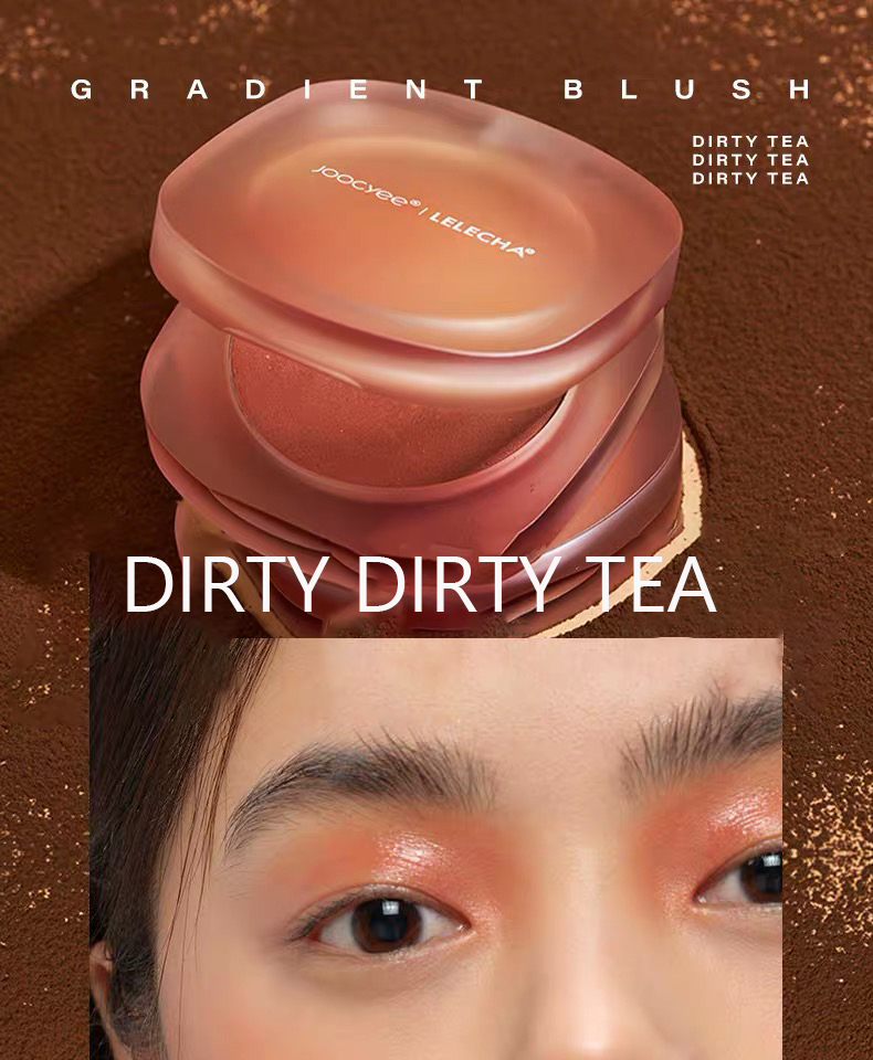 Joocyee Lelecha Gradient Face Blush 3 Colors Authentic Nude and Natural Makeup Long-lasting and Waterproof Face Blusher 3.7g