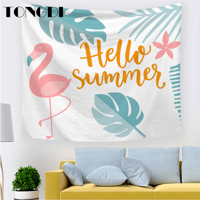 TONGDI Tapestry Vivid Elegant 3D Pattern Individual Fantasy Modern Art Wall Hanging Mat Decor For Home Parlor Bedroom LivingRoom