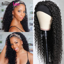 Headband Wig Brazilian Human-Hair Easy-To-Wear Black Women for Glueless Super Realistic-Look