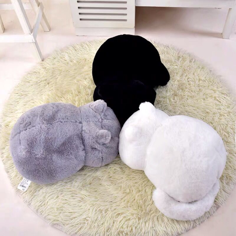 Nice Huggable Plush Cat Toys Staffed Cute Shadow Dolls Kids Gift Doll Lovely Animal Toys 3 Colors Home Decoration Soft Pillows