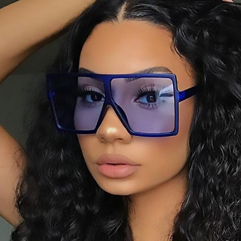 Sunglasses Women Oversized Vintage Shades Sunglasses Square 2020 For Women Female Lady Sunglass UV400