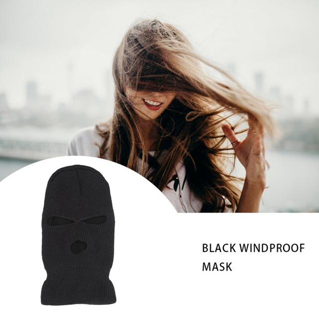 Black Mask Thinsulate Winter Sas Style Army Ski Knitted Neck Warmer One Size Fits Most For winter activities Hot