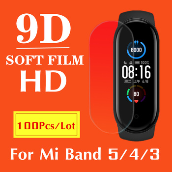 100/Pack,Screen Hydrogel Film For XiaoMi Mi Band 5 Smart Bracelet Wristband Protective Film Mi Band5 Band 4,Not Tempered Glass