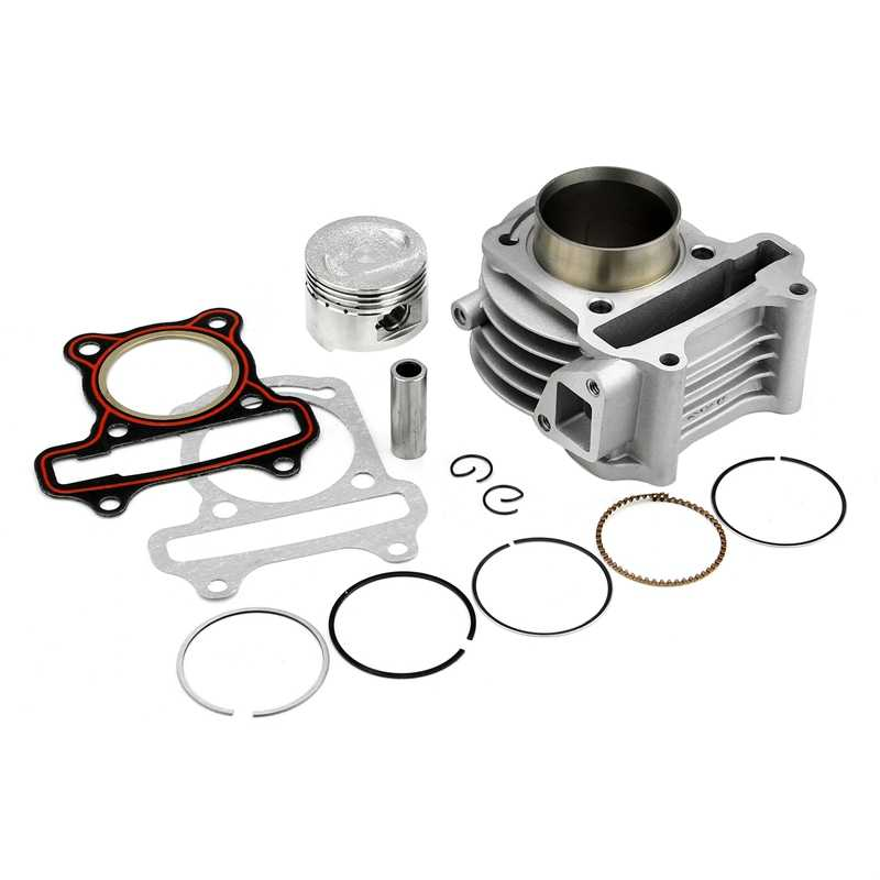 GY6 50CC-100CC GY6 60CC 39 44 47 50 Mm Big Bore Kit/Silinder Piston Ring Gasket Set untuk 139QMB 4 Stroke Skuter Moped Atv