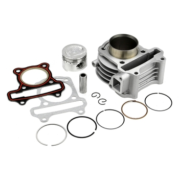 цена на GY6 50CC-100CC GY6 60CC 39 44 47 50MM Big Bore Kit / Cylinder Piston Ring Gasket Set for 139QMB 4 stroke Scooter Moped ATV
