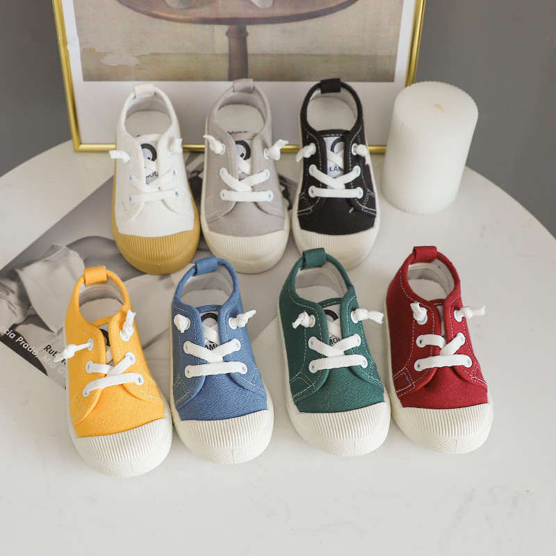 New Fashion Children Canvas Shoes Girls A Lazy Person's Children's Shoes Korean Edition Board Boy's Shoes SH19023