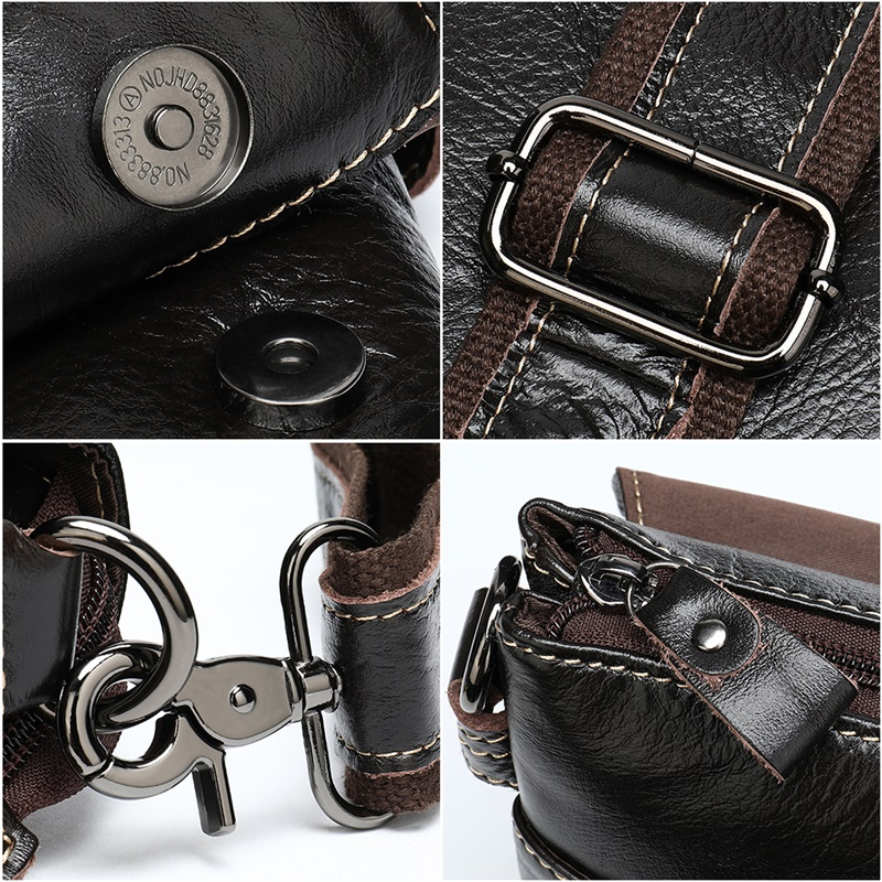 Retro Men's Briefcase Business Shoulder Bag Genuine Leather Handbag Bags Leather Laptop Messenger Bags Men's Travel Bags 7909