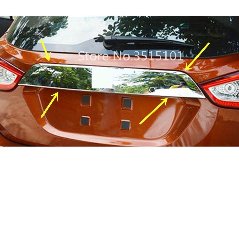 Voiture en acier inoxydable porte arrière permis hayon cadre pare-chocs plaque garniture lampe coffre pour Suzuki s-cross Scross SX4 2017 2018 2019