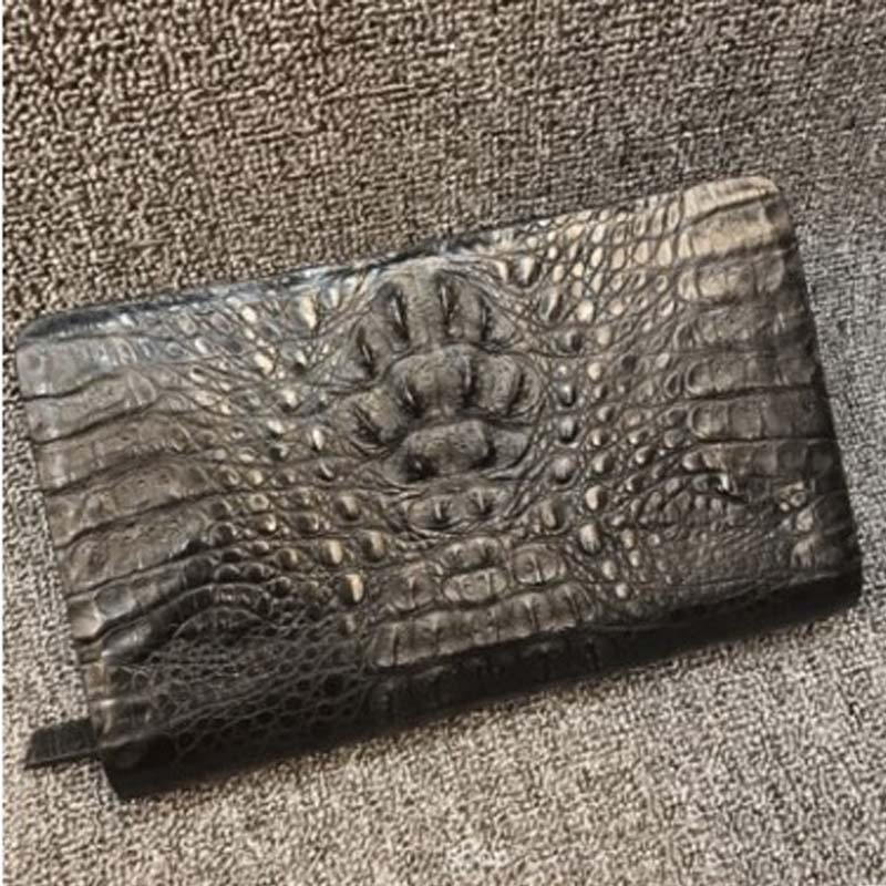 XHPJ men crocodile handbags Genuine leather Hand bag The large capacity Men's bags business Hand caught Cross section men clutch
