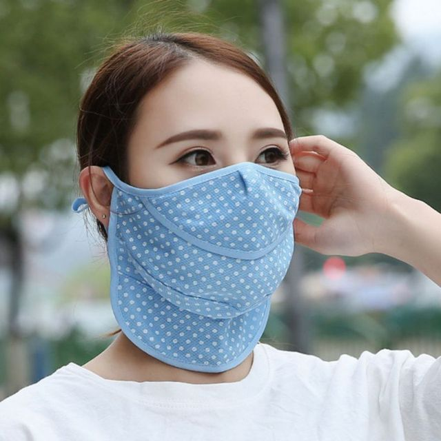 Summer Dust Masks Dots Fashion Breathable Sunscreen Neck Protective UV Masks Unisex 3
