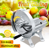 Stainless steel lemon slicer Manual Commercial Fruit Vegetable Potato Tomato Banana Slicing Machine For Food Drying