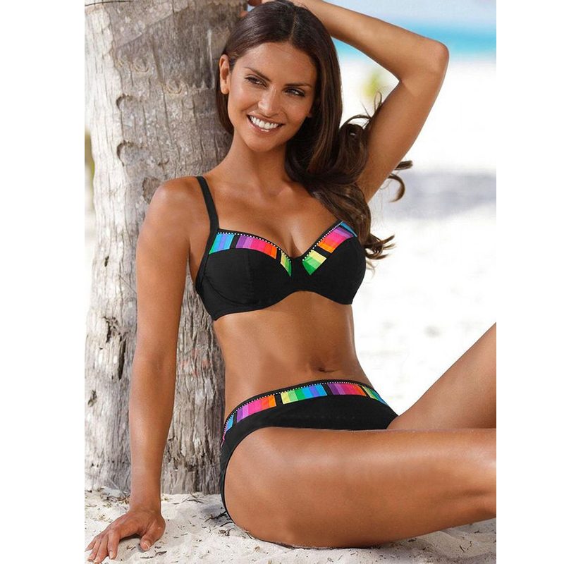 TYAKKVE Sexy 2021 Bikini Set Swimwear Women Print Swimsuit Push Up Polka Dots Plus Size Bathing Suit Beachwear Biquini 3XL|Bikini Set|   - AliExpress