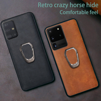 Leather Phone Case For Samsung Galaxy S20 Ultra S8 S9 S10 S10e Note 10 20 Plus A30s A50 A50s A70 A51 A71 Crazy Horse Skin Cover