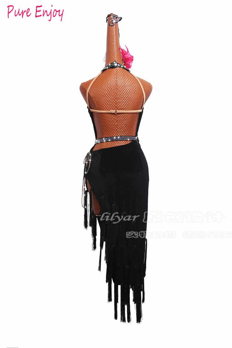 Latin Dance Kleid Frauen Fransen Kleid Tango Kleid Salsa Rumba Modern Dance Kostüme Latin Wettbewerb Kleider Dancewear