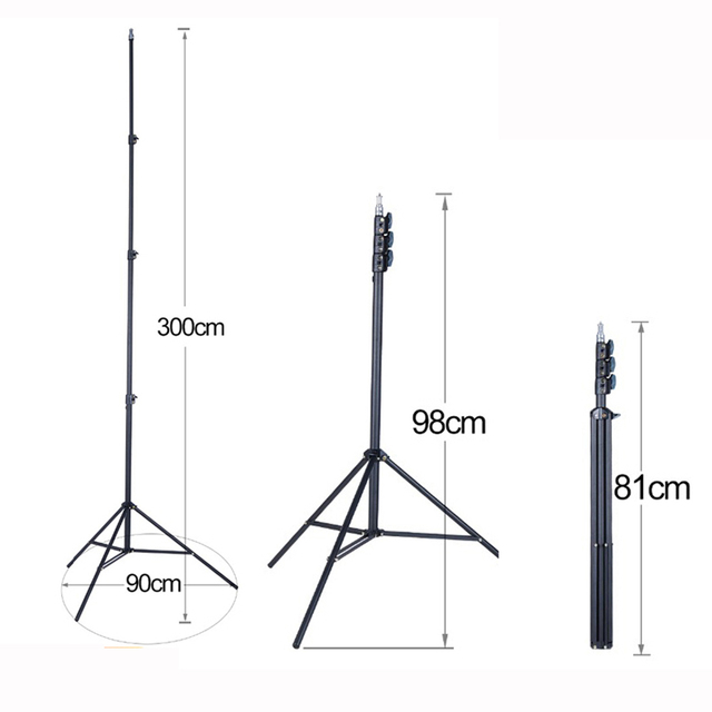 """FIRECORE 2.2M/3M Laser Level Tripod Laser Adjustable 3/4 Knots Height Tripod/Bracket 1/4"""" With Adapter"""