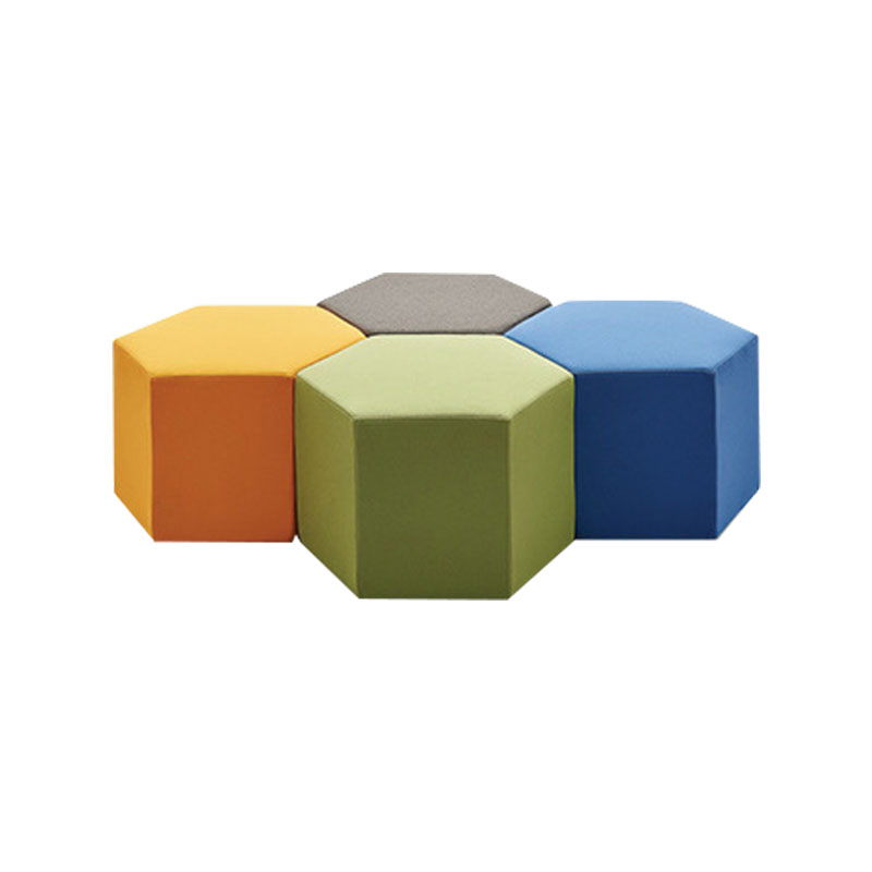 U-BEST Colorful Leisure Area Modern Sofa Seating Ottomons Fabric Office Sofa Stool