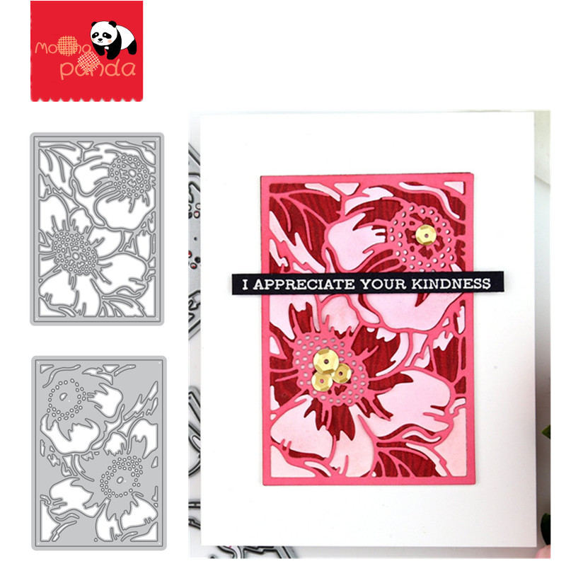Rose Panel Metal Cutting Dies And Stamps Stencils For DIY Scrapbooking Album Stamp Paper Card Embossing  DIE CUT