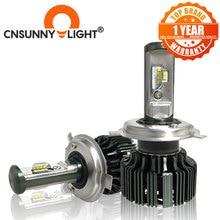 Cnsunnylight H7 H4 H11 led H13 9005/HB3 9006/HB4 H1 車のヘッドライトキット 6000 6000k 電球 csp 自動フロント H3 880/881 H8 フォグランプ w/ファン