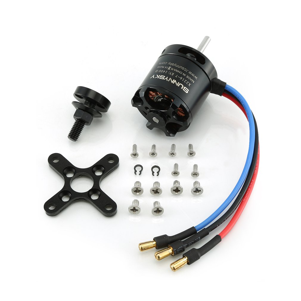 <font><b>SunnySky</b></font> <font><b>X2216</b></font> 880KV/1100KV/<font><b>1250KV</b></font>/1400KV II Brushless Motor For RC Drone Long Axis Motor for RC Fixed-wing Airplane Models image