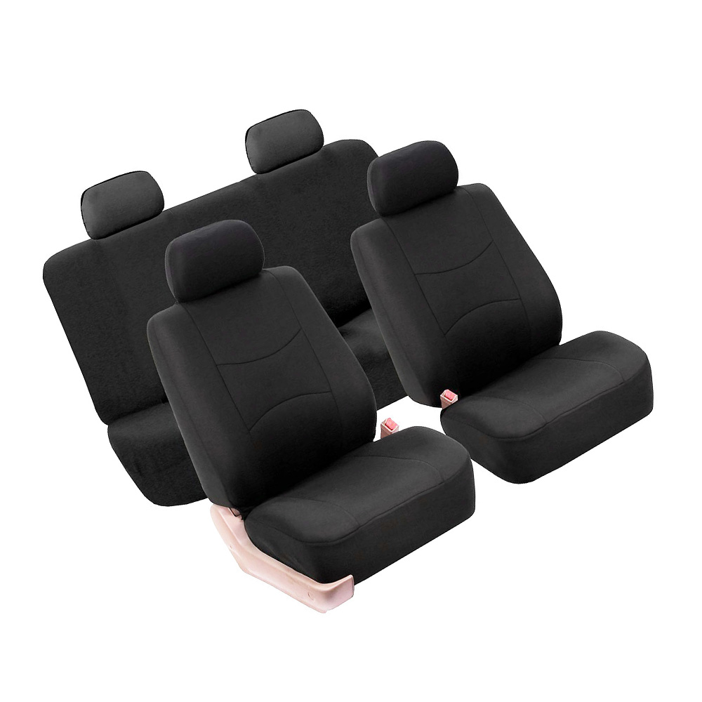 Replacement Seat Covers Set Kit Universal Auto Cushion Polyester Black