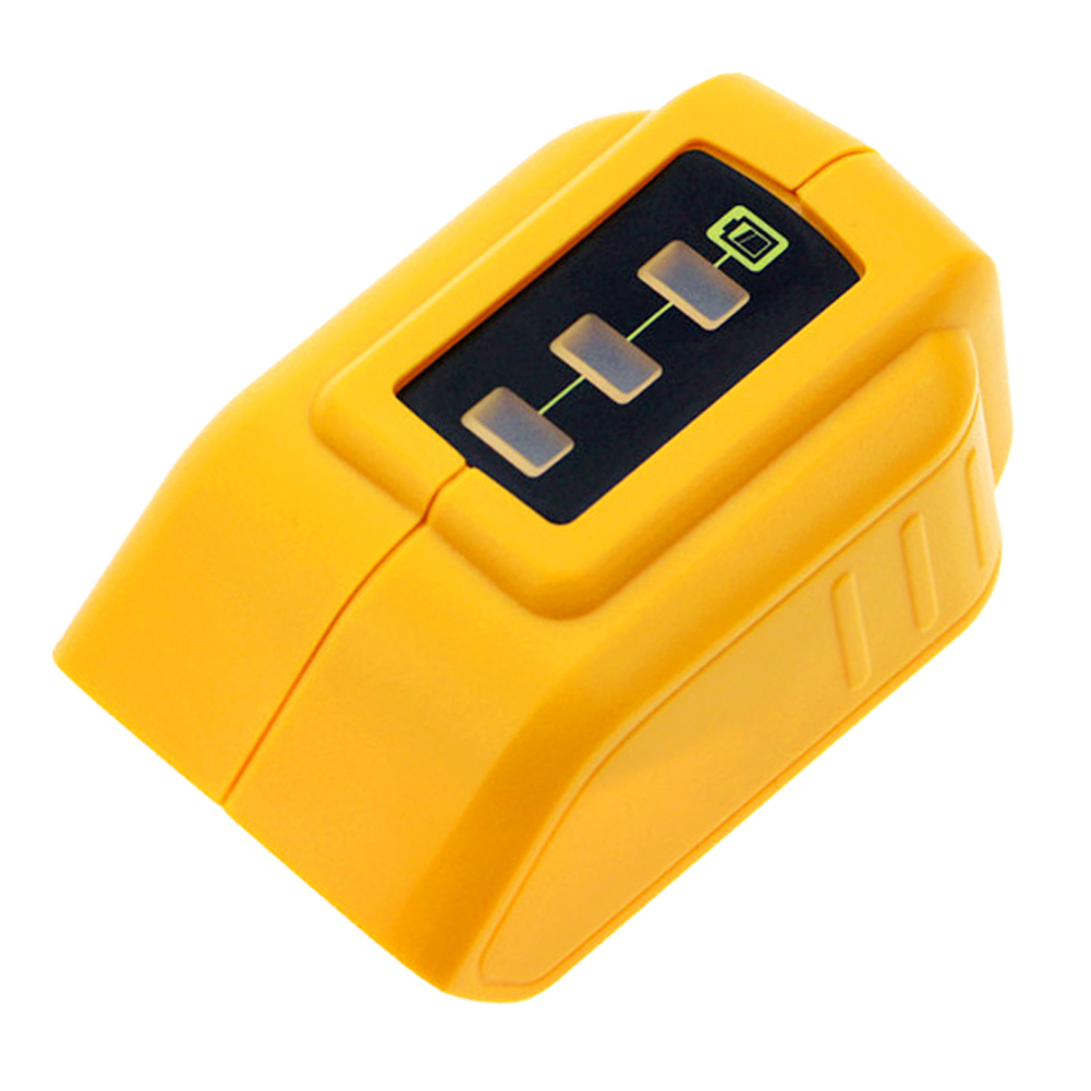 USB Converter Charger For 12V18V20V Li-ion Battery Converter replace <font><b>DCB090</b></font> DCB091 USB Charging Adapter Power Supply image