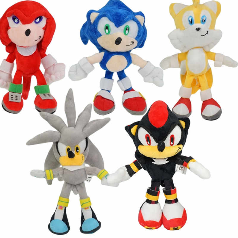 23cm Classic Sonic The Hedgehog Plush Doll Anime Kunckles Tails Silva Figure Soft Stuffed Plush Kid S Toys Gift Doll Aliexpress
