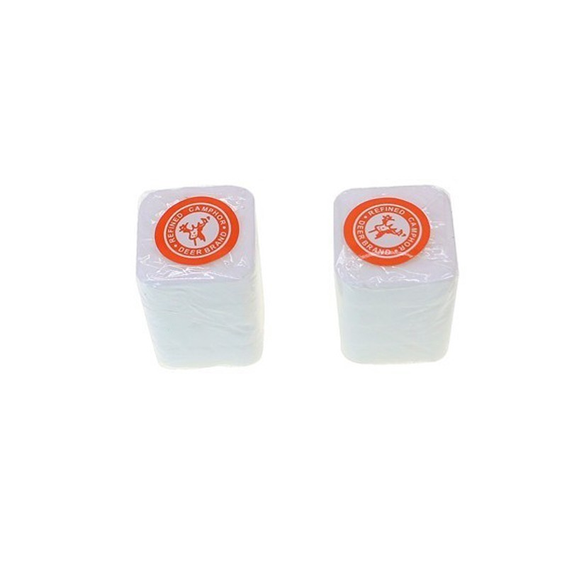 8pcs/lot Deer Brand Refined Camphor Tablets/blocks Natural Mothballs Pure Wardrobe Insect Prevent Repellent Use