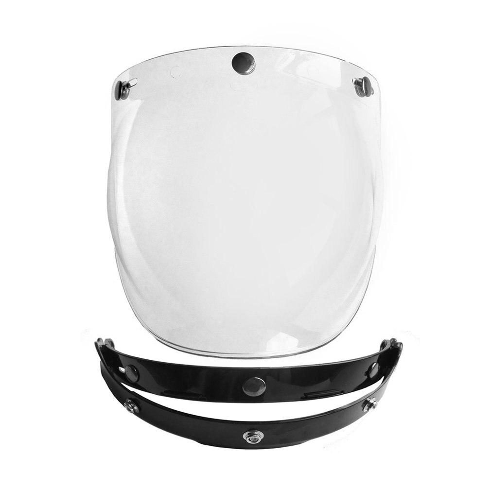 3-Snap Bubble Wind Shield Visor For Biltwell Gringo/&Bonanza Motorcycle G