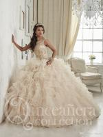 Linyixun Champagne Quinceanera Dresses 2020 Ball Gowns Scoop Beaded Crystal Embroidery Sweet 16 Dress Vestidos De 15 Anos
