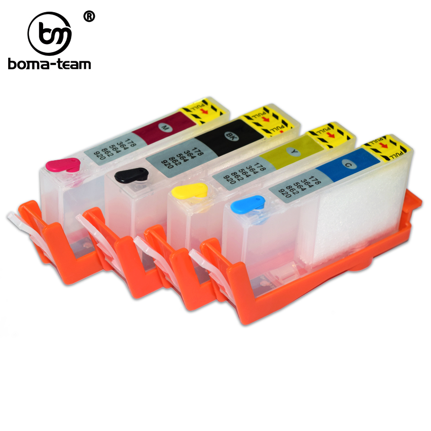 4Pcs Refill Ink Cartridge For <font><b>HP</b></font> Printers 3520 3522 3524 4620 4622 5510 5514 5515 6510 7510 7520 <font><b>6520</b></font> 6525 5520 5522 5525 5524 image