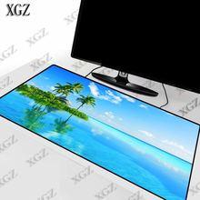 Большой игровой коврик для мыши xgz tree sea облачный пейзаж
