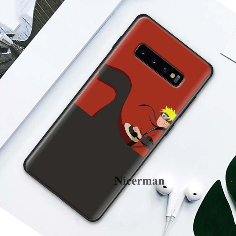 Image 5 - Black Silicone Cases Cover Coque for Samsung Galaxy S8 S9 S10 S10e 5G Note 8 9 10 5G Plus S7 S7 Edge S8+ S9+ S10+ Anime Naruto-in Fitted Cases from Cellphones & Telecommunications