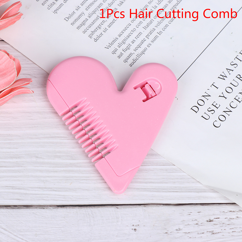 Heart Shape Thinning Hair Cutting Comb Pubic Bikini Hair Remover Trimming Tools Women Mini Trimming Combs Razor Accessories