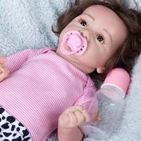 22 Inches Little Addley Silicone Real Reborn Baby Doll Costume Accessories Collection Set Silicone Vinyl Body(Cloth is Random)