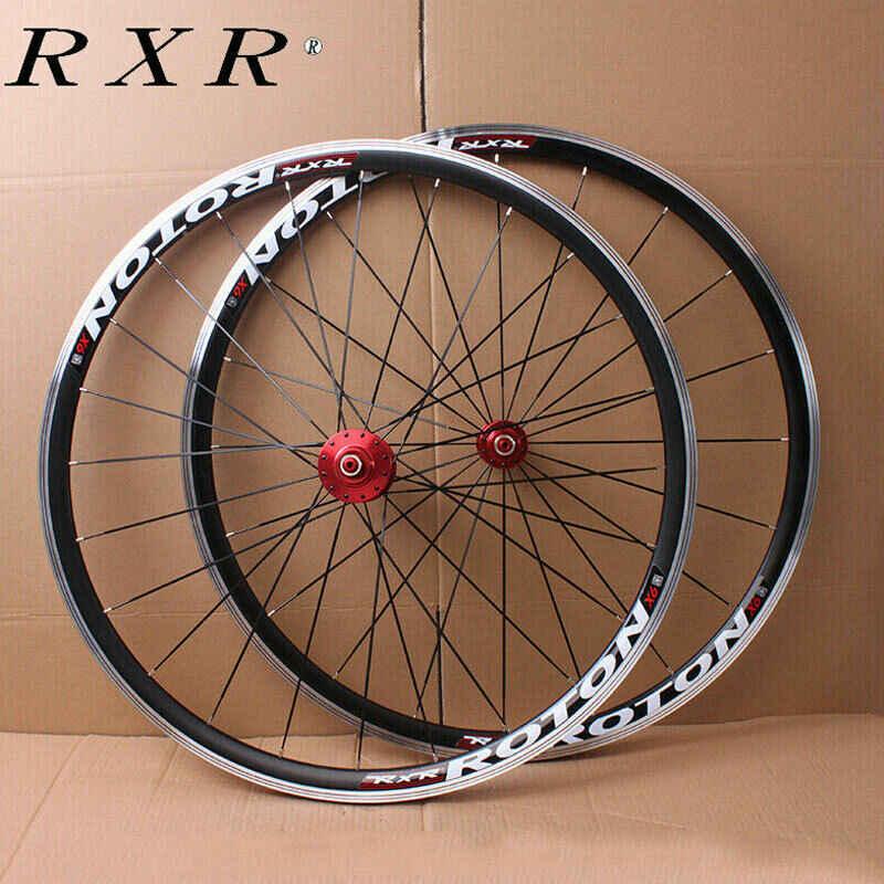 Paire de roues RXR vtt 700C 7-11 vitesses VTT roues en alliage d'aluminium V frein à pneu roues avant arrière adaptées à la Cassette 7-11 S