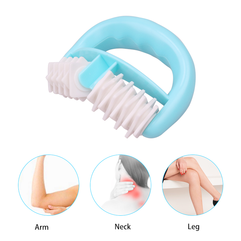 New Roller Face Blue D Type Fat Control Roller Massager Cellulite Leg Abdomen Neck Buttocks Fast Anti Cellulite Face Lift Tools