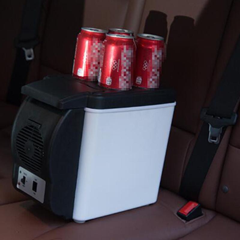 Мини 6L автомобильный холодильник 12v многофункциональный дорожный холодильник домашний охладитель с 4 отверстиями для напитков электрический холодильник для автомобиля 6
