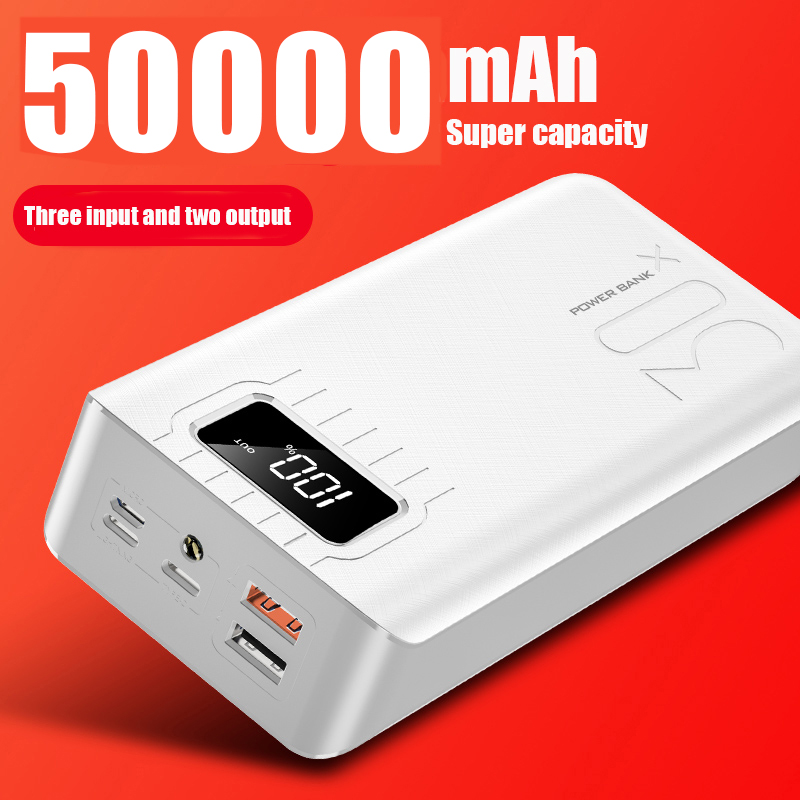 2020 New Power Bank External Battery PoverBank 2 USB LED Powerbank Type-c Portable Mobile charger for Xiaomi One plus