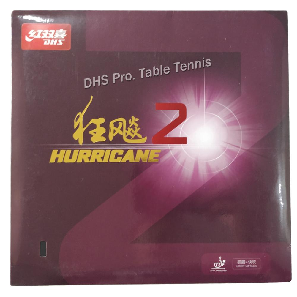 DHS Hurricane 2 Hurricane2, Hurricane-2  Pips-In Table Tennis PingPong Rubber With Sponge 2.2mm