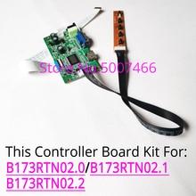 صالح B173RTN02.0/B173RTN02.1/B173RTN02.2 لوحة ال سي دي شاشة LED أجهزة الكمبيوتر المحمولة 1600x900 WLED EDP 30 دبوس HDMI + VGA بطاقة التحكم في العرض عدة