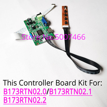 Fit B173RTN02.0/B173RTN02.1/B173RTN02.2 lcd panel LED screen laptops 1600x900 WLED EDP 30 pin HDMI+VGA display control card kit
