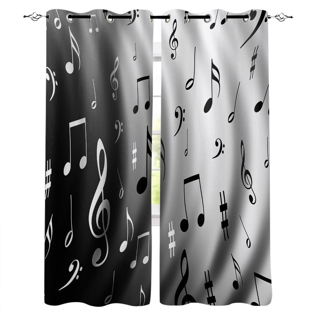 Music Black White Musical Notes Window