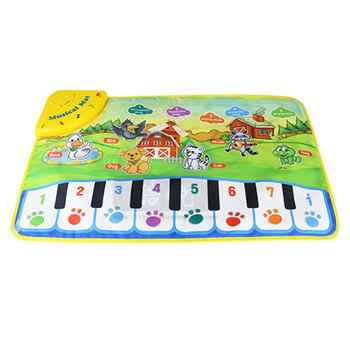 Kids Informative Educational Musical Toys Innovative Musical Kid Piano Play Mat with Lovely Animal Pattern - DISCOUNT ITEM  20% OFF All Category
